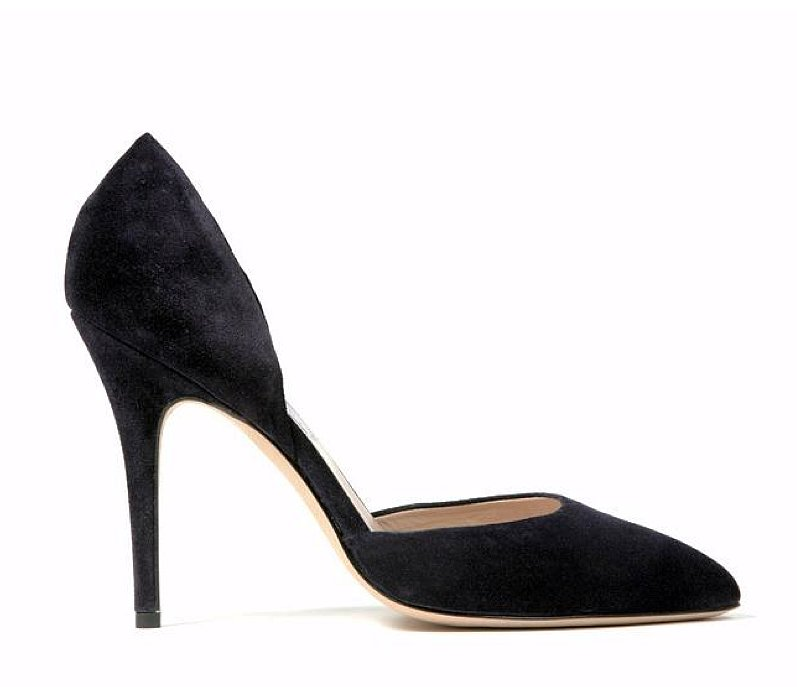 Monique Lhuillier Ink Suede Pump ($595)