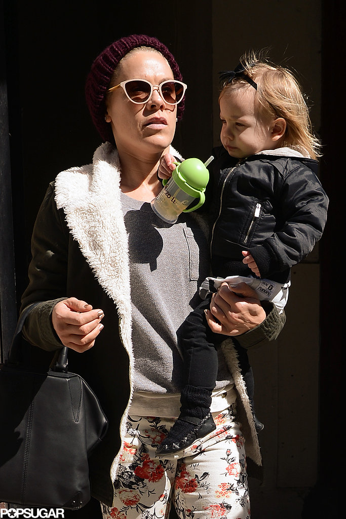 Pink went shopping with her daughter, Willow Hart, in NYC on Friday.