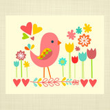 For a folksy style, try this colorful bird and flowers print ($14).
