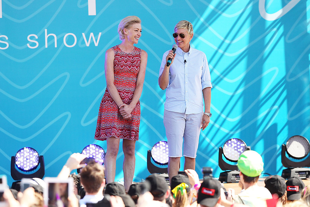 Ellen and Portia Work the Crowd Down Under