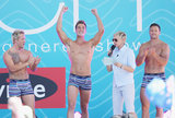 Ellen DeGeneres brought shirtless hunks onto her show.
