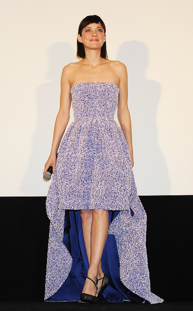 Marion Cotillard was in Tokyo for the premiere of her film Rust and Bone.