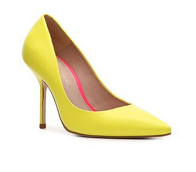 This Spring, we recommend giving your classic black or nude pumps a rest for this more punchy Kurt Geiger yellow pair ($130).