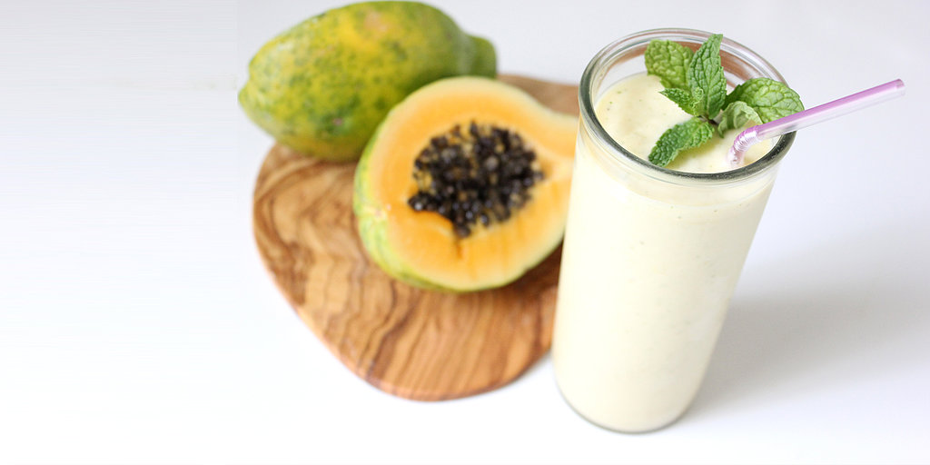 Remedy Digestion Woes With This Papaya Ginger Mint Smoothie