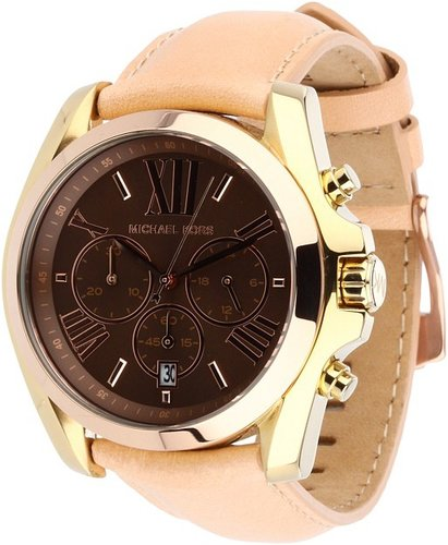 Michael Kors - MK5630 - Trilogy Bradshaw Chronograph (Gold/Rose Gold/Chocolate/Tan) - Jewelry