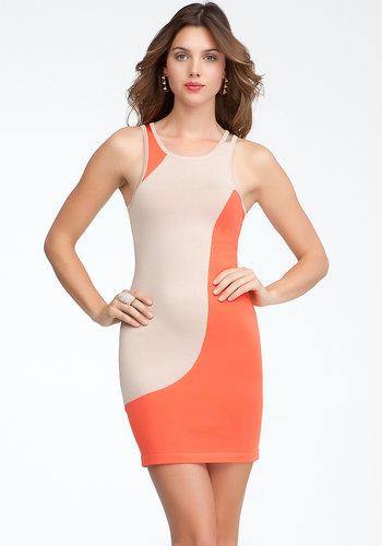 Curvy Colorblock Sweater Dress