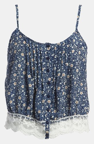Lucca Couture Floral Crop Top