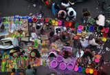 Street vendors sold colored powder, called gulal, in Siliguri, India.