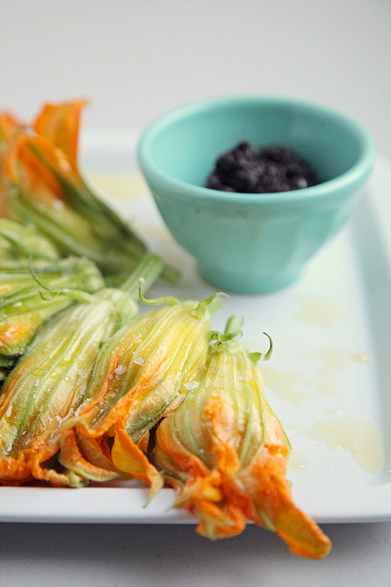 Burrata-Stuffed Squash Blossom Recipe