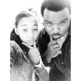 The Hunger Games' Amandla Stenberg posed with Craig Robinson. Source: Instagram user amandlastenberg