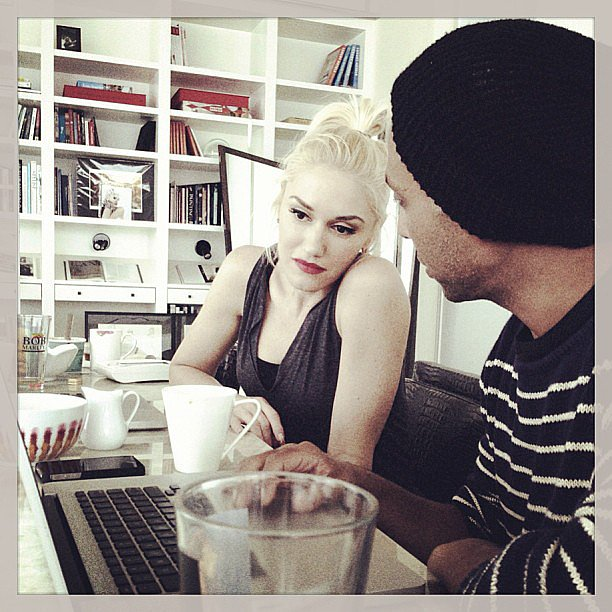 No Doubt shared a behind-the-scenes moment of Gwen and Tony. Source: Instagram user nodoubt