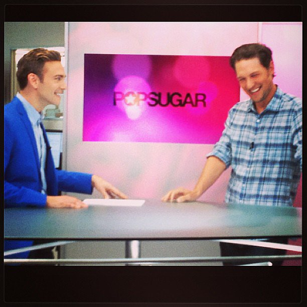 Michael Cassidy visited POPSUGAR Live for an interview. Source: Instagram user POPSUGAR