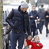 David Beckham Holds Hands With Harper in London