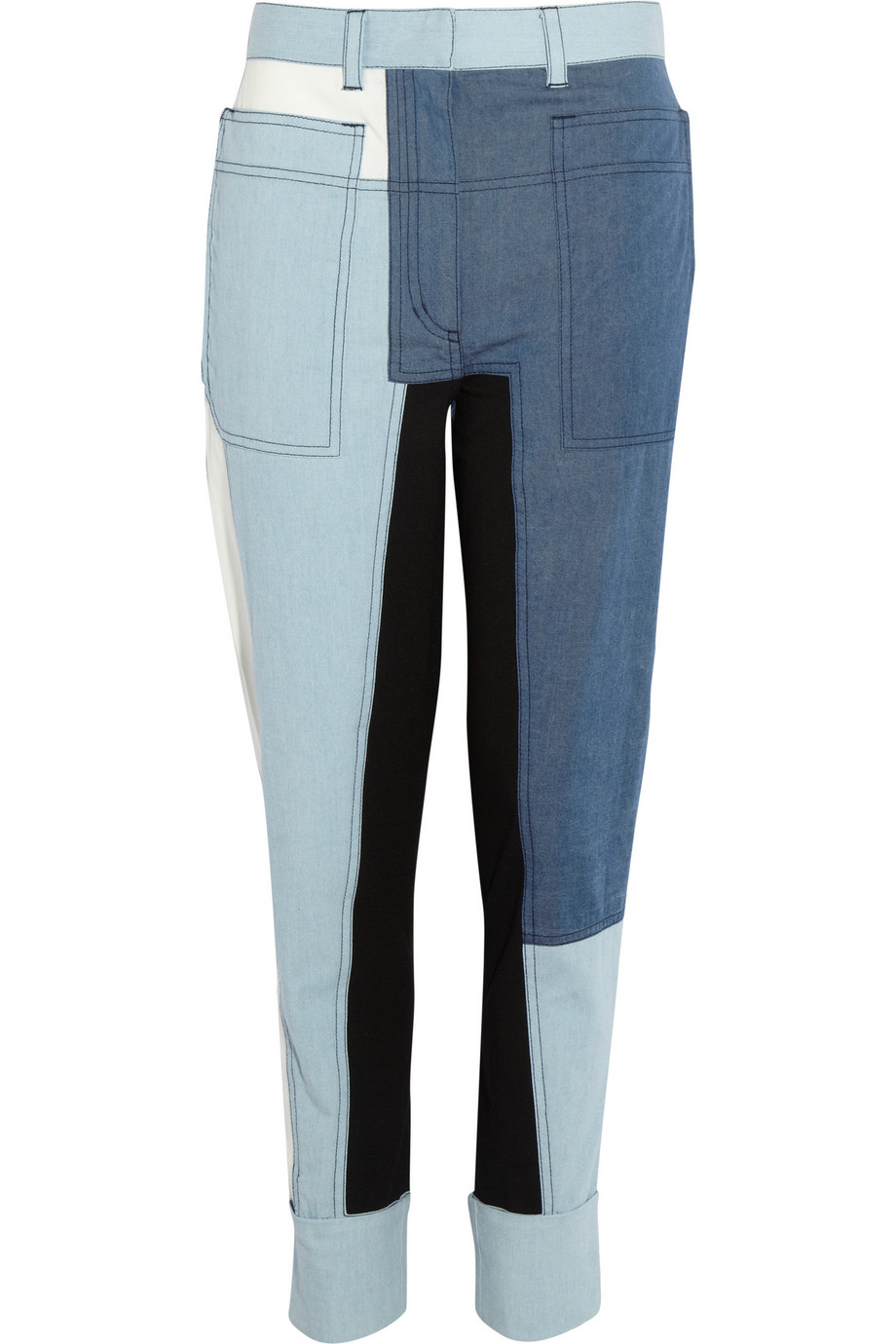I've been dreaming about these 3.1 Phillip Lim patchwork pants ($425) since first seeing them on the runway. There's nothing more comfortable than an airy pair of chambray pants to pair with a basic tee and barely-there sandals. For a chilly Spring night, I would channel my inner Kurt Cobain and throw on a holey sweater with a beanie for maximum '90s appeal. — Meg Cuna
