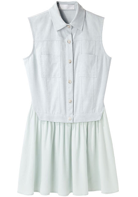 If you prefer something lighter, score this Thakoon vested denim dress ($490).