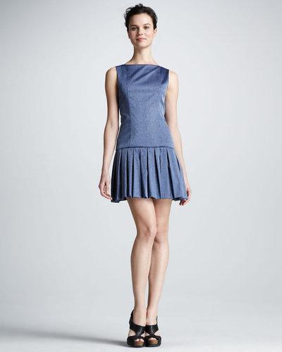 Alice + Olivia Harper Pleated-Skirt Dress