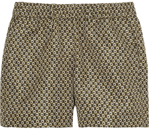 Burberry Prorsum Printed silk-twill shorts