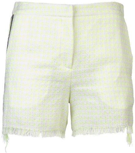 Msgm Neon tweed shorts