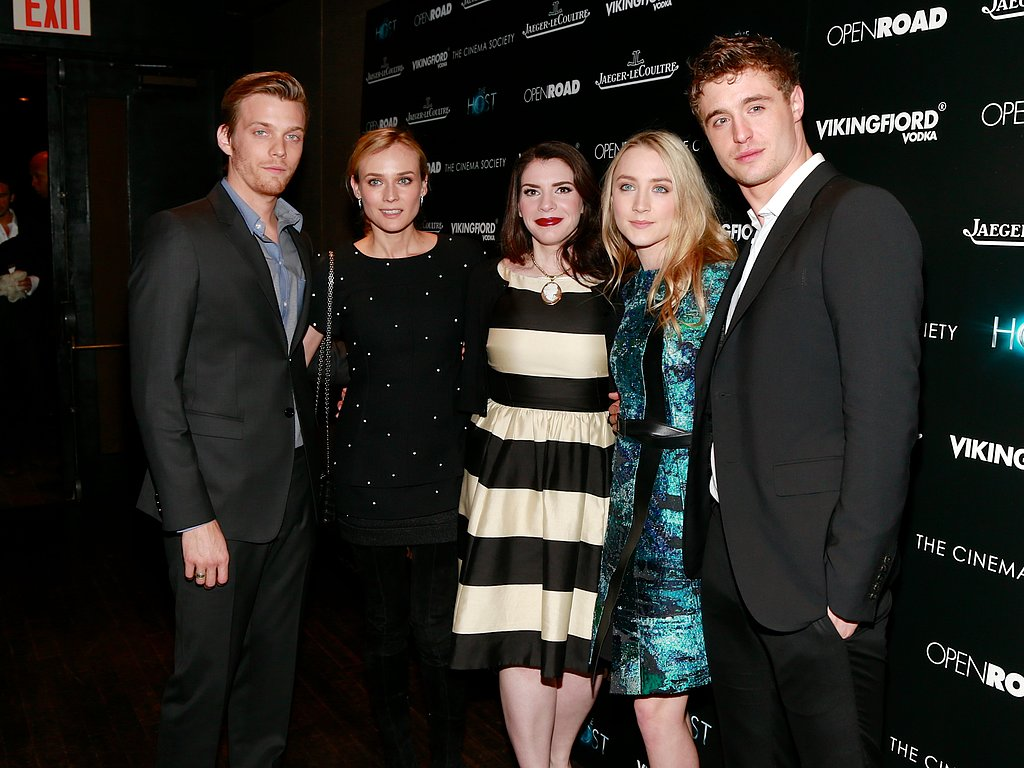 Jake Abel, Diane Kruger, Stephenie Meyer, Saoirse Ronan, and Max Irons attended the screening.