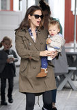 Jennifer Garner and her son, Samuel, had brunch in LA.