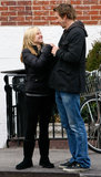Kristen Bell and Dax Shepard laughed while walking around NYC in May 2008.