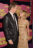 Dax Shepard and Kristen Bell smiled big for the cameras at the 2012 CMT Music Awards in Nashville.