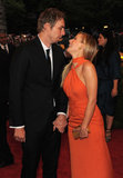 Kristen Bell and Dax Shepard shared a laugh at the Met Gala in May 2012.