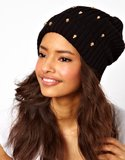 Mimic the street-chic models of BCBGMAXAZRIA's Fall 2013 show with this skull-embellished ASOS beanie ($20).