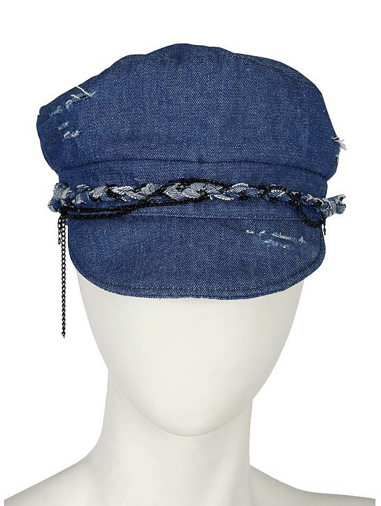Channel your inner Diane Kruger and don this denim Selima fisherman's cap ($69, originally $143) with high-waisted shorts and a striped top.