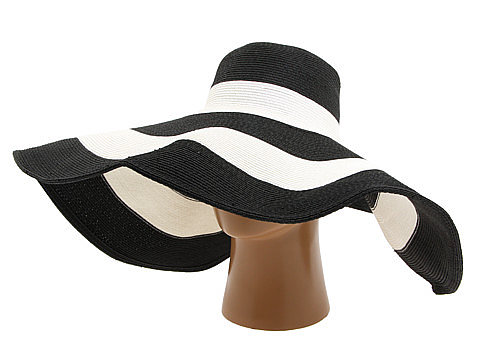 If Aubrey Hepburn had to choose one of these creations, this black-and-white striped flopper from San Diego Hat Company ($64) would be it. With an on-trend black-and-white color scheme, feminine structure, and just the right amount of pizzazz, this fashionable topper is fit for any Hollywood starlet.