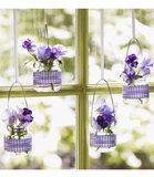 Hanging Baby-Food Jar Vases