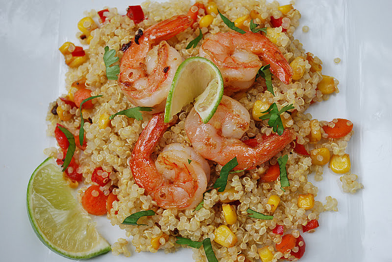 ... , throw together this bright ginger lime shrimp and quinoa dish