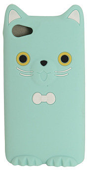 WetSeal Rubber Tie Kitty Phone Case Mint