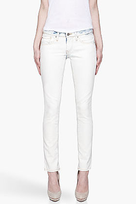 IRO Off-white acid-washed Lewin Jeans