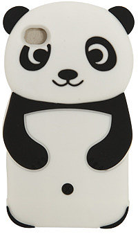 WetSeal Rubber Panda Phone Case Black
