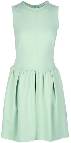 Carven A-line pleated dress