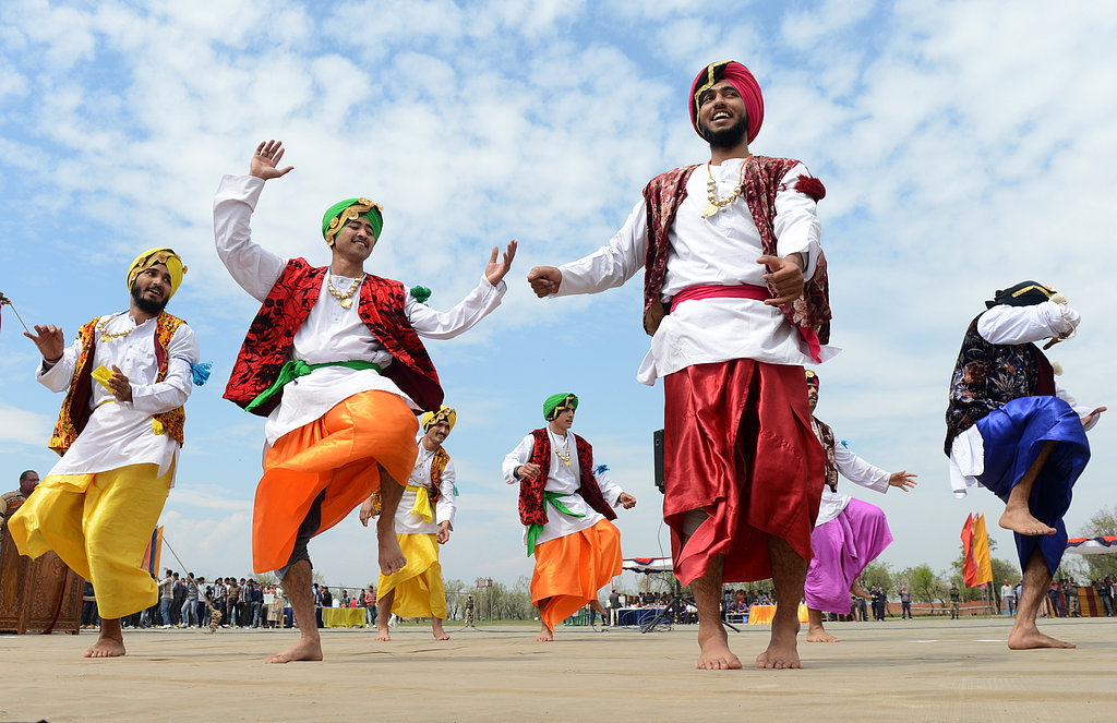 Indian Border Security Force soldiers danced for Holi festival inside a camp in Srinagar, India.