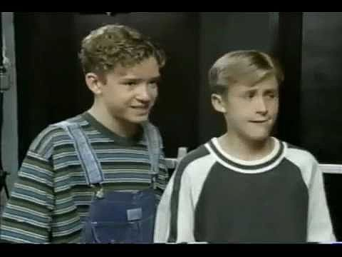 Justin Timberlake and Ryan Gosling as Mouseketeers