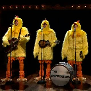 "Jimmy Fallon The Chickeneers ""Ho Hey"""