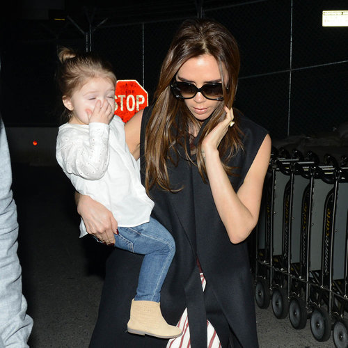 Victoria Beckham With Harper in LAX (Photos)