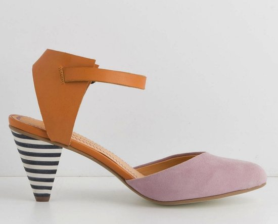 Thanks to the soft-hued colorblocking and quirky striped heel, these Anthropologie Korin d'Orsays ($148) offer up an easy Summer-minded shoe choice.
