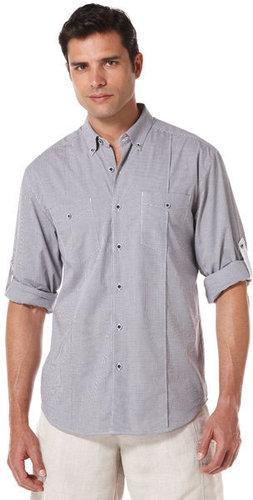 Slim Fit Long Sleeve Cotton Gingham 2 Pocket Shirt