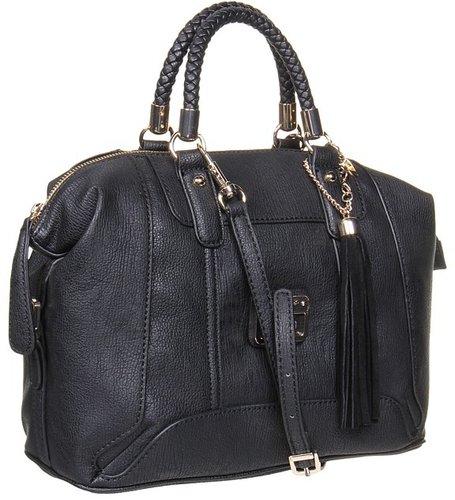 GUESS - Gerri Box Satchel (Black) - Bags and Luggage