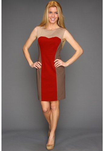 Suzi Chin for Maggy Boutique - Sleeveless Colorblock Sheath (Rustic Multi) - Apparel