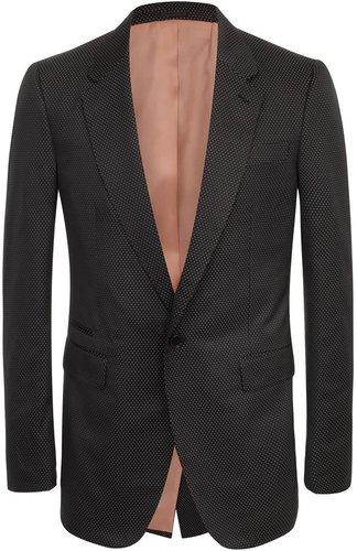 Black Spot Satin 1-Button Jacket
