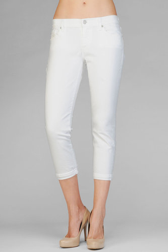 Skinny Crop And Roll In Clean White
