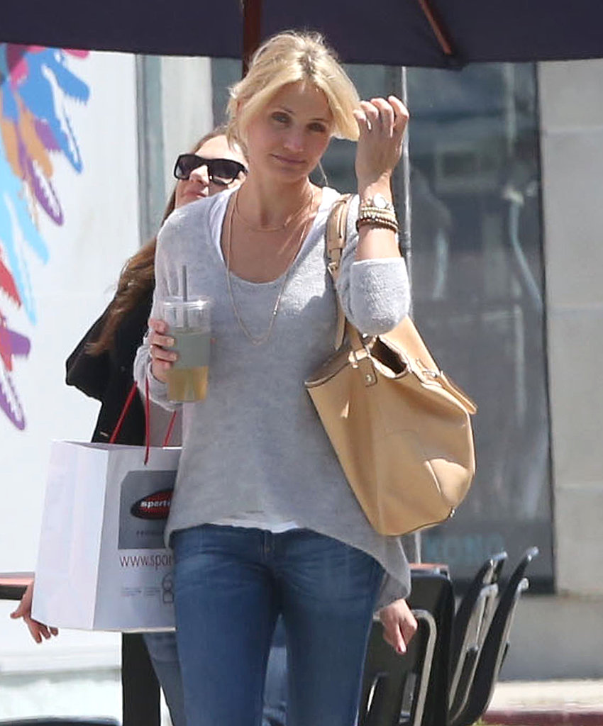 Cameron Diaz went shopping with a pal.