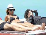 Nicole Richie laid out with a few friends in St. Barts in April 2013.