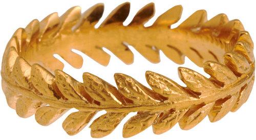 Cathy Waterman Gold Laurel Leaf Band