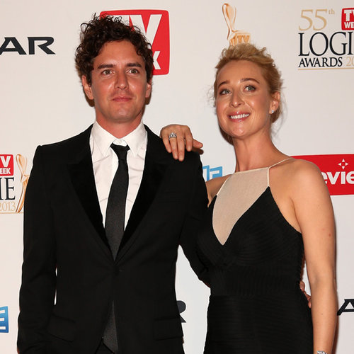 Asher Keddie and Vincent Fantauzzo Pictures at 2013 Logies